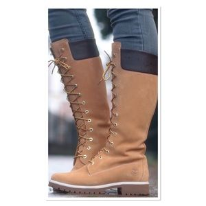 TIMBERLAND TALL LACE UP BOOTS